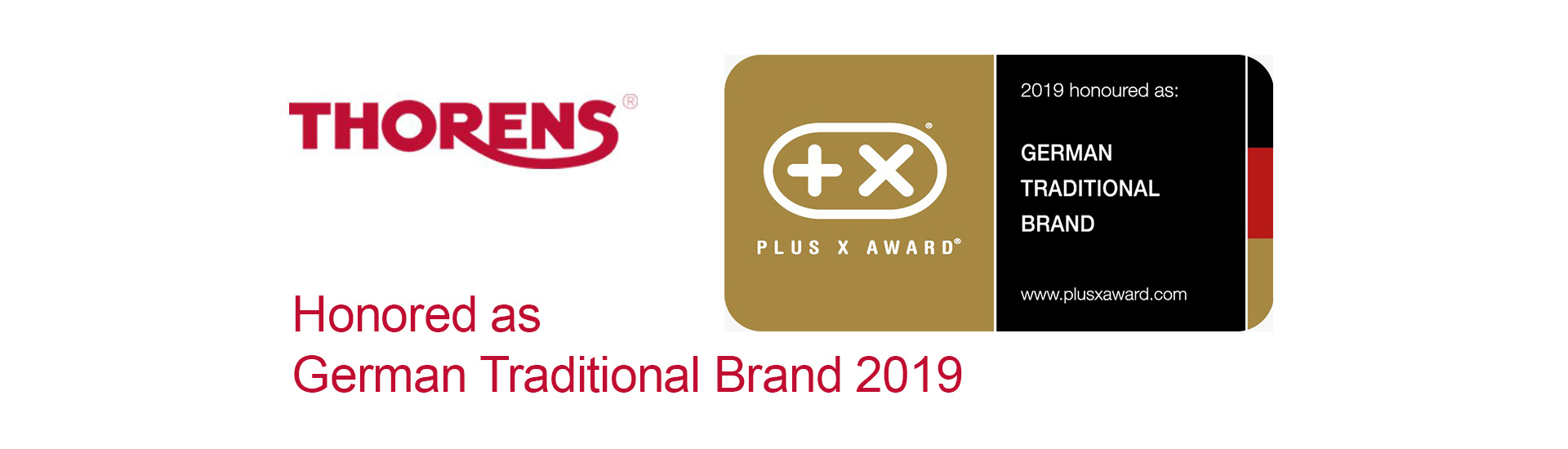 PLUS X AWARD - Thorens honored as GERMAN TRADITIONAL BRAND 2019