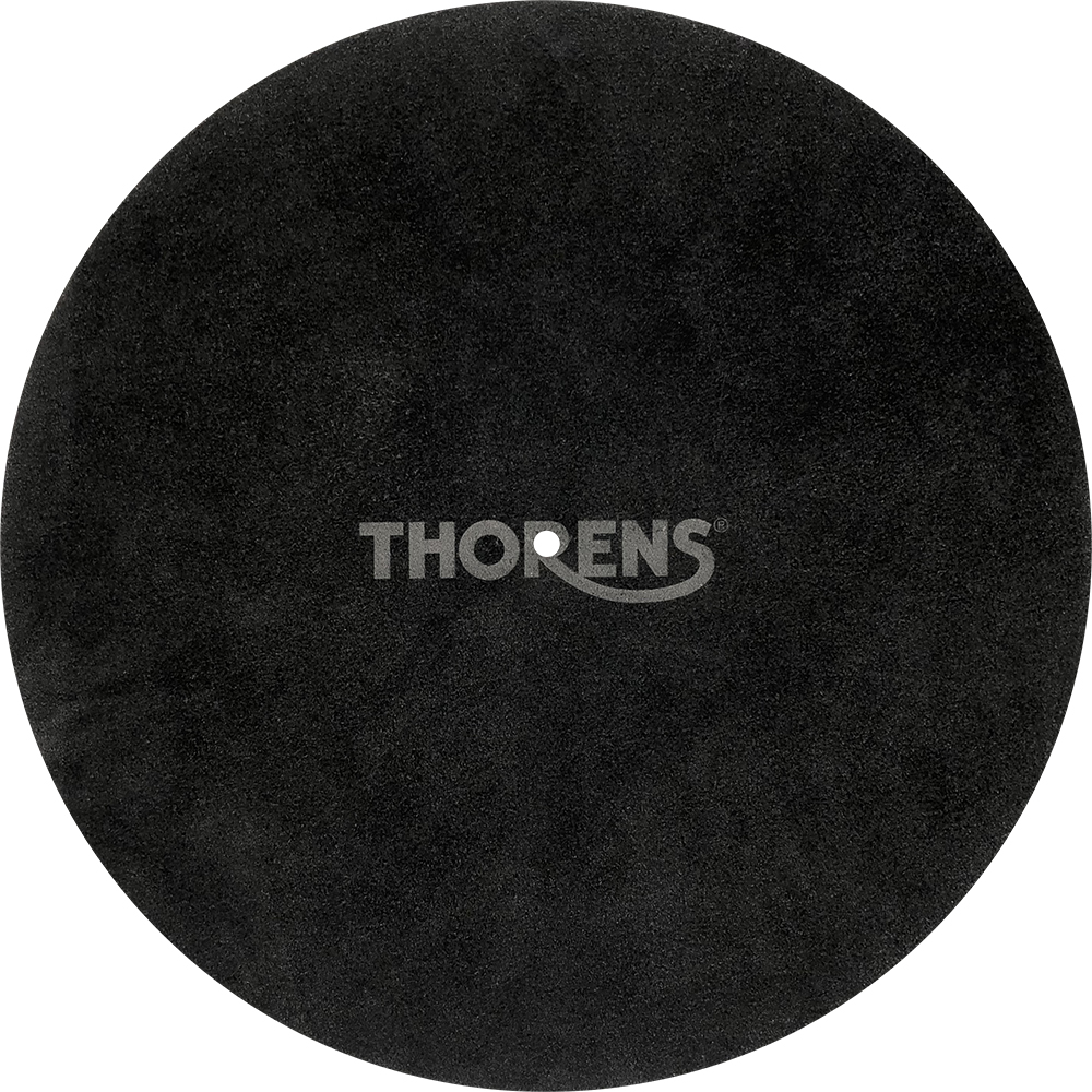 Platter mat leather, black